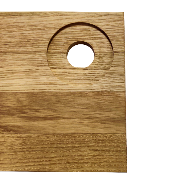 Smørebræt egetræ - 4 stk