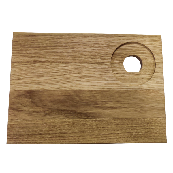 Smørebræt egetræ - 2 stk